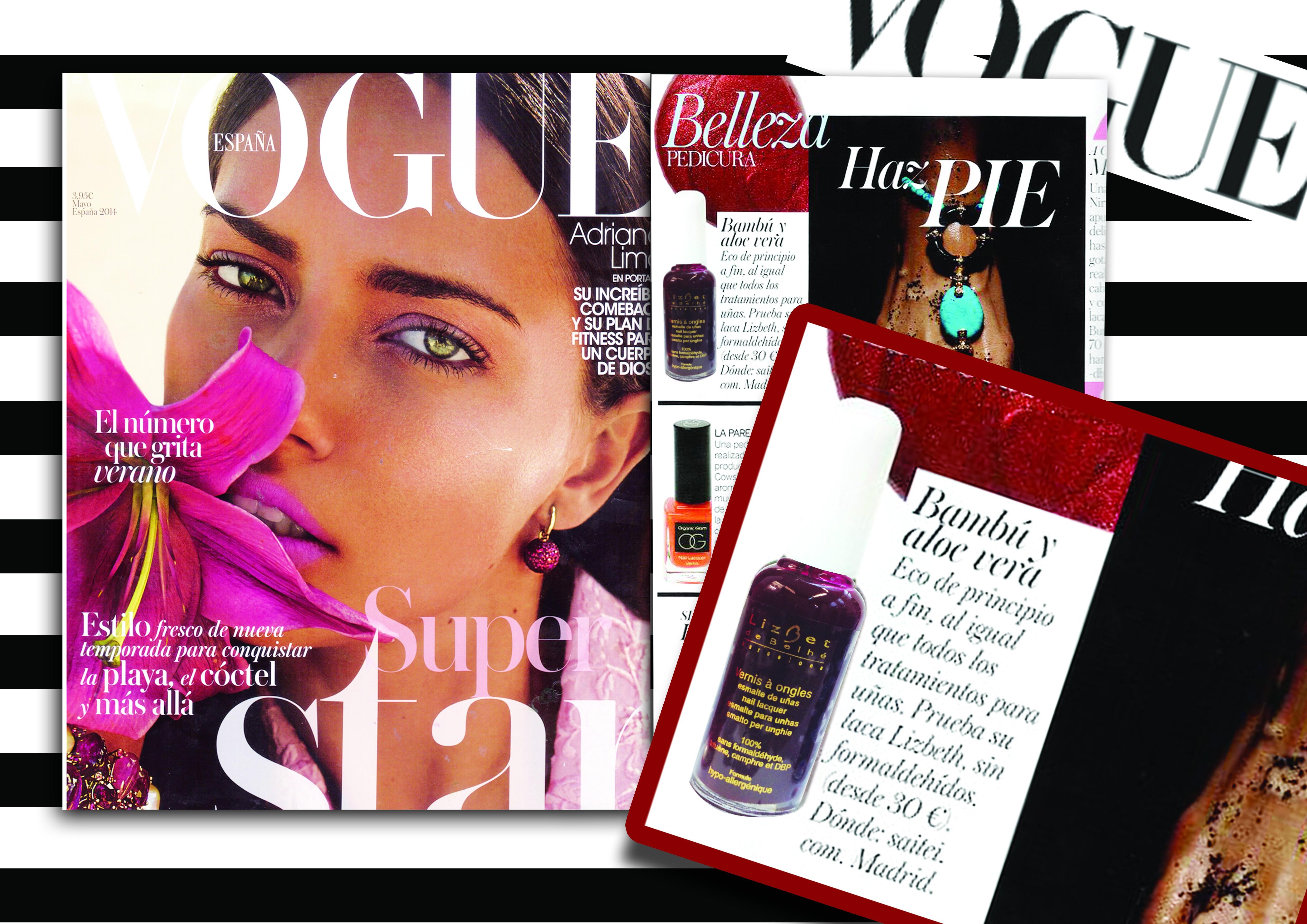 Publicación Vogue - Lizbet de Belhé - Esmalte hipoalergénico